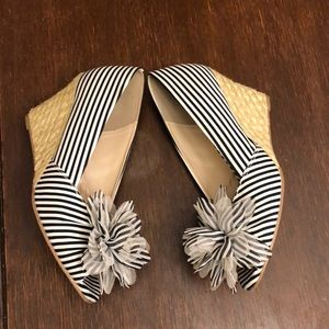 RESTRICTED WEDGE PEEP TOE SHOES SIZE 9.5